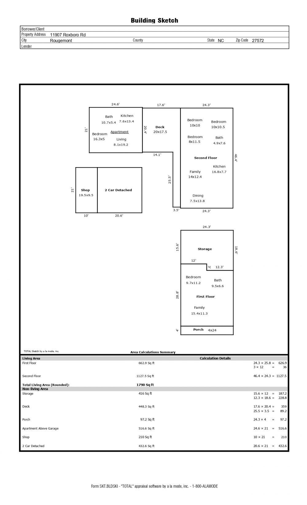 11907 Roxboro Rd – floor plan