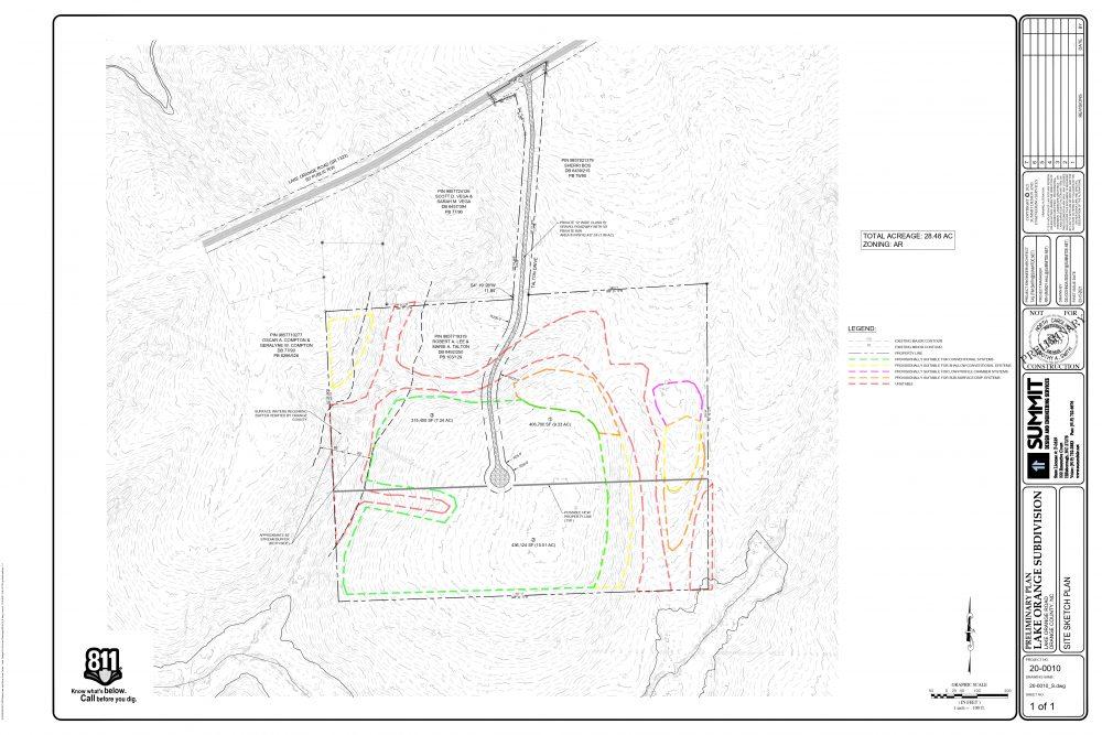 28.48 AC Lake Orange Rd – proposed subdivion(3 Lot plan )