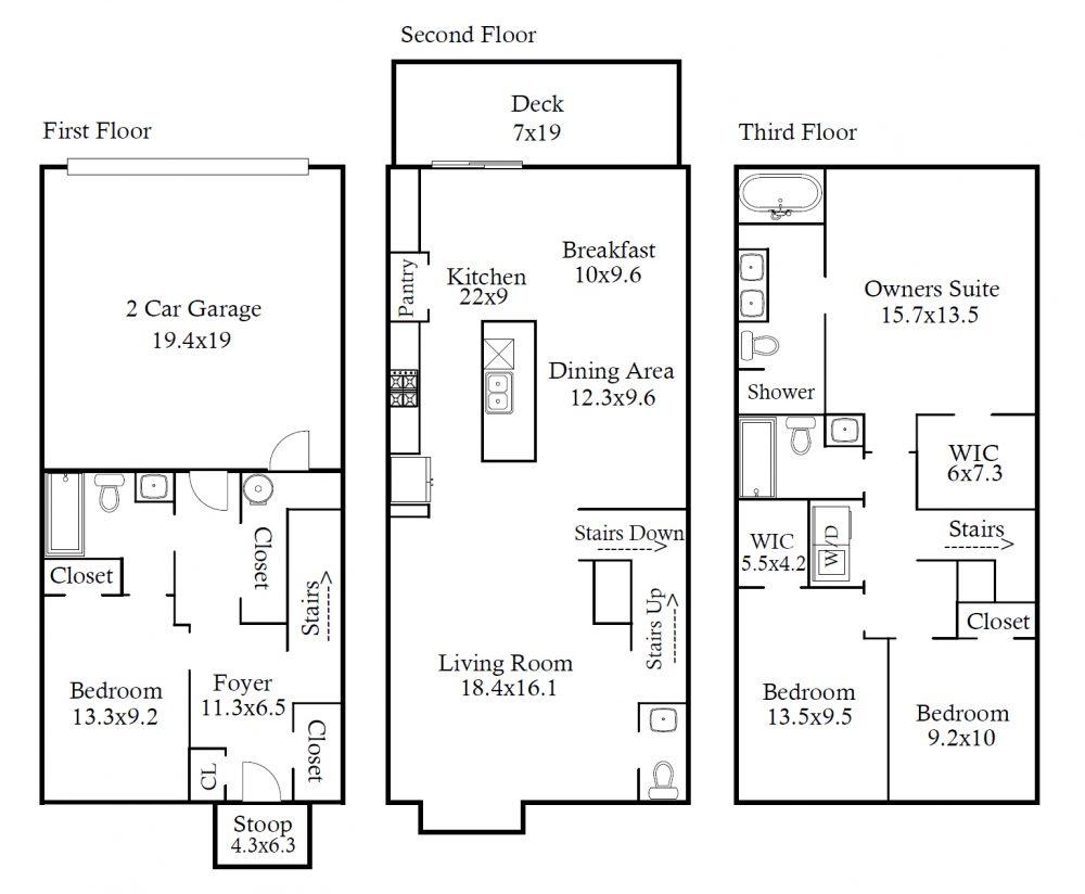 320 Poplar Leaf Way – Floor Plan – Image
